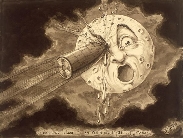 georges-melies-a-trip-to-the-moon-le-voyage-dans-la-lune-painting