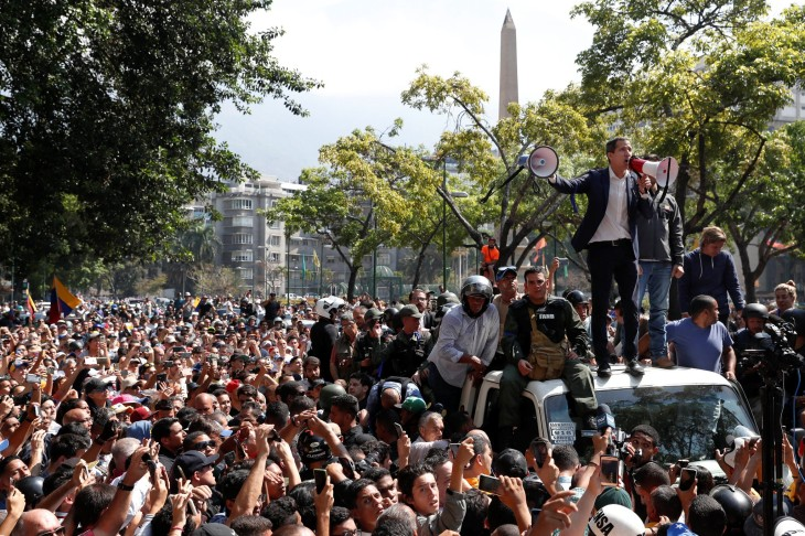 Venezuela Guaido Military uprising