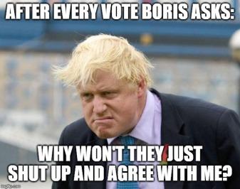 Boris cant get a vote